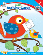 Math Activity Cards for School and Home, Grade 1