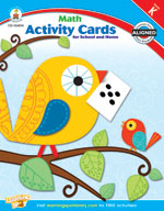 Math Activity Cards for School and Home Kindergarten