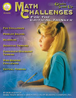 Math Challenges for the Critical Thinker by Mark Twain Media