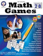 Math Games: Grades 7-8 by Mark Twain Media