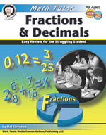 Math Tutor: Fractions and Decimals by Mark Twain Media