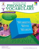 Month-by-Month Phonics and Vocabulary, Grade 5