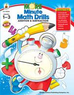 More Minute Math Drills, Grades 1-3
