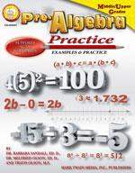 Pre-Algebra Practice Book by Mark Twain Media