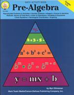 Pre-Algebra by Mark Twain Media