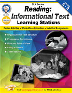 Reading Informational Text Learning Stations by Mark Twain Media
