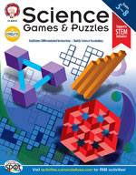 Science Games and Puzzles by Mark Twain Media