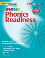 Spectrum Phonics Readiness, Preschool