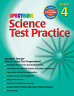 Spectrum Science Test Practice, Grade 4