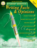 Student Booster: Writing Facts and Opinions by Mark Twain Media