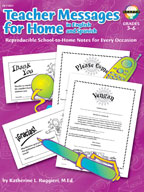Teacher Messages for Home (English/Spanish)