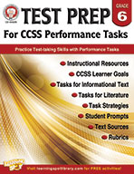 Test Prep For Ccss Performance Tasks, Grade 6 (ebook)