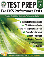 Test Prep For Ccss Performance Tasks, Grade 7 (ebook)
