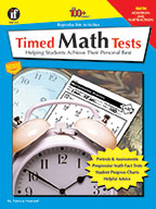 Timed Math Tests, Addition And Subtraction, Grades 2 - 5 (ebook)