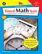Timed Math Tests, Multiplication And Division, Grades 2 - 5 (ebook)