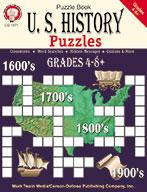 U.S. History Puzzles, Grades 4 - 8+