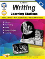 Writing Learning Stations by Mark Twain Media