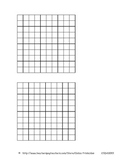 Blank 10x10 grid - 2 per page (.pdf) (CSDAX001)