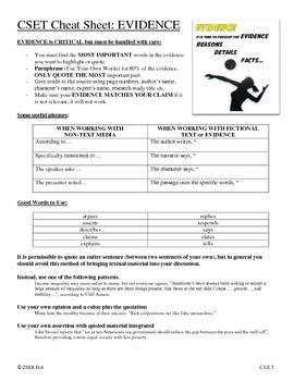CSET Cheat Sheets