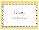 CSET Multiple Subject History Flash Cards