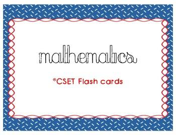 CSET Multiple Subject Math Flash Cards