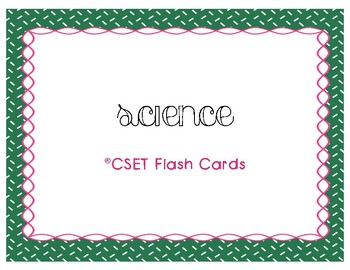 CSET Multiple Subject Science Flash Cards
