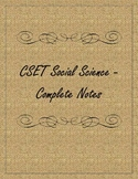 CSET Social Science Cornell Notes