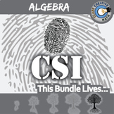 CSI: Algebra 1 Curriculum BUNDLE -- 9 Crime Scene Investigations