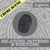 CSI: Algebra -- Unit 4 -- Relations, Functions & Patterns -- Crime Scene