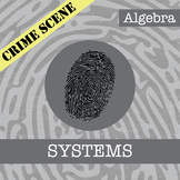 CSI: Algebra -- Systems of Equations -- Distance Learning Compatible