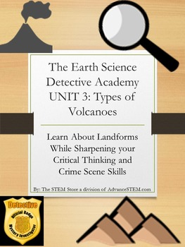 CSI Detective Unit: Learn about Types of Volcanoes through Mystery