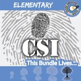 CSI: Elementary Math BUNDLE -- 9 Crime Scene Investigations