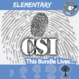 CSI: Elementary Math BUNDLE -- 9 Crime Scene - Distance Learning Compatible