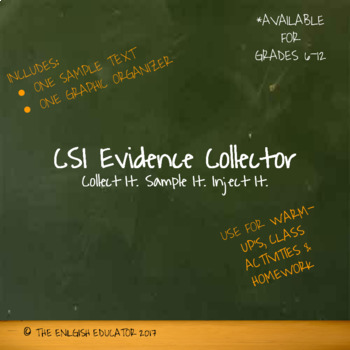 Graphic Organizer: Collecting Evidence