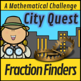 CSI Finding Fractions Help!- The City Quest (A Math Murder Mystery)