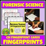 CSI Forensic Fingerprint Cards