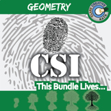 CSI: Geometry Curriculum BUNDLE -- 9 Crime Scene Investigations