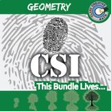 CSI: Geometry Curriculum BUNDLE -- 9 Crime Scene Investigations