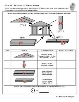 CSI: Geometry -- Unit 8 -- Volume & Surface Area by Clark ...