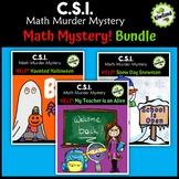 CSI Help Math Murder Mystery Bundle