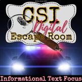 CSI Informational Text Digital Escape Room - Central Idea - Text Features