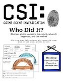 CSI Investigation: Who Did It? (Reading Protractors Scaven