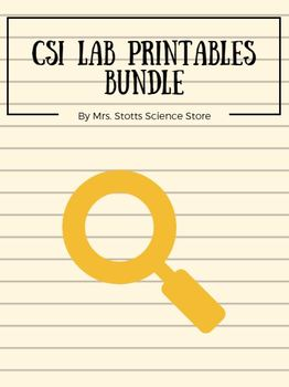 CSI Lab Printables Bundle