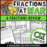 CSI Math Murder Mystery - HELP! Fractions at War