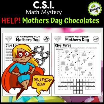 CSI Math Mystery - Help! Mother Day - Mom