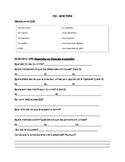 French Language CSI Media Studies Worksheet