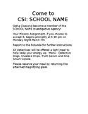 CSI STEM School Family Night Solve the Mystery