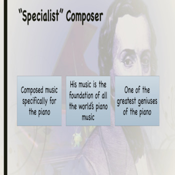CSI - Who is Frederic Chopin Powerpoint/Activity Sheet Bundle