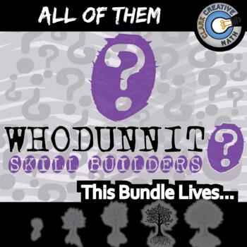 Whodunnit? -- ALL OF THEM -- Grades (9-12) - 90+ Activities - Math Curriculum