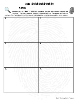 Whodunnit? -- Add Numbers of Any Length  - Skill Building Class Activity
